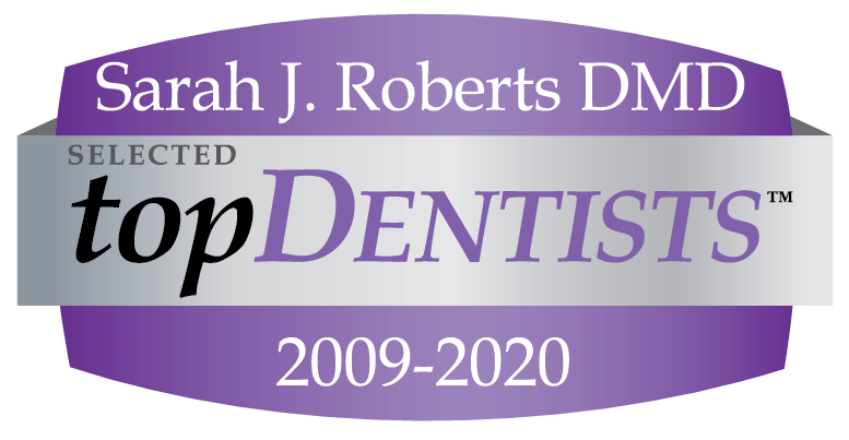 Sarah J. Roberts DMD - TopDentists 2009-2020 badge