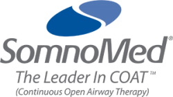 SomnoMed The Leader in COAT (Continuous Open Airway Therapy) logo