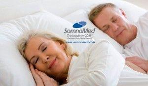 Senior Couple sleeping comfortably due to Somno Med Sleep Apnea Treatment