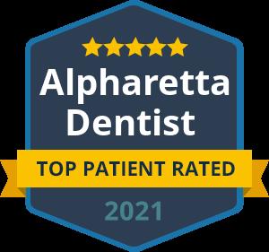 Alpharetta Top Patient Rated 2021 badge