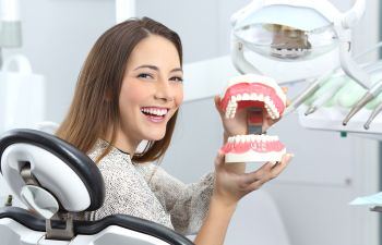 Dental Patient With Healthy Teeth